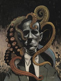 Lovecraft and Friends (coloured) by mygrimmbrother.deviantart.com on @deviantART
