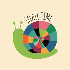 Poster | SNAIL TIME von Andy Westface | more posters at http://moreposter.de