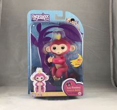 pink With Yellow Hair Interactive Baby Monkey Fingerlings Professional Design Bella by Wowwee