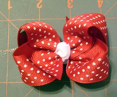 "Hairbow instructions    I've made these - super-easy.  Does require ""sewing"" - if you can count using a needle and thread for two seconds ""sewing"" :).  I also put mine on the normal barrette clips instead of alligator clips - just hot glue the bow to the top of it and wrap the center knot around the barrette."