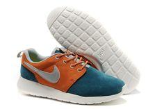 Nike Roshe Run Læder Mørkblå Orange Hvid Unisex