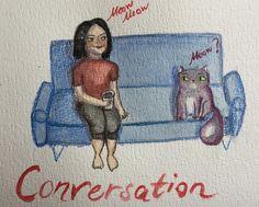 Merudemirci — #watercolor #polychromos #illustration #cat