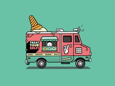 Image result for animated ice cream truck