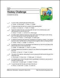 NHL worksheets for kids Kids