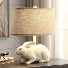Antiqued Bunny Table Lamp Farmhouse Style Decorating, Farmhouse Decor, Peter Rabbit Nursery, Family Wall Decor, Crestview Collection, Fabric Lampshade, Tin Candles, Antique Farmhouse, Bruges