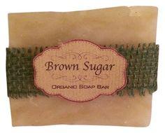 Brown Sugar Beauty Handmade Organic & Natural Bar Soap: Rosemary Frank & Mint 4.5 Oz.