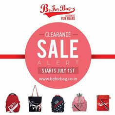 BeForBag's Clearance Sale! Grab your favorite bag now! #bags #clearancesale #sales #backpacks