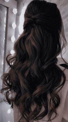 Hair Inspo, Hair Inspiration, Dress Hairstyles, Aesthetic Hair, Dream Hair, Bridesmaid Hair, Gorgeous Hair, Hair Lengths, Hair Goals