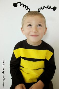 No Sew Bee Costume tutorial  sc 1 st  Pinterest & Bumble Bee Costume for Toddler | Pinterest | Bumble bees Bees and ...