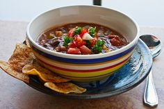 Vegan chili recipe - this was good!  A little spicy for the kids but they ate it.  Used green chiles.  Also added mushrooms.