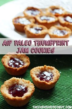 #AIP #Paleo Thumbprint Jam Cookies from The Allergy-Free Holiday Table // TheCuriousCoconut.com