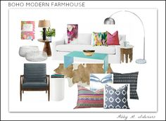Abby Manchesky Interiors | Boho Modern Farmhouse | living and family room