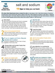 10 Tips to Help You Cut Back; It's clear that Americans have a taste for salt, but salt plays a role in high blood pressure. Adults age 51 and older, African Americans of any age, and individuals wit No Sodium Foods, Low Sodium Diet, Cholesterol Diet, Low Carb, Low Salt Recipes, Low Sodium Recipes, Cardiac Diet, Renal Diet, Blood Pressure Diet