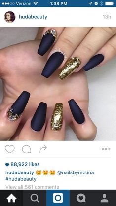 nice Navy blue and gold matte...