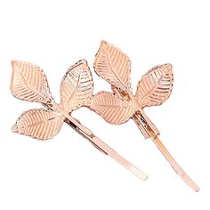 Susenstone®European Style Hair Accessories Fashion Lovely Leaves Golden Metal Hairpin *** Want additional info? Click on the image. (Amazon affiliate link)