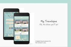 """Check out my @Behance project: """"My Travelogue- Digital Travel Planner"""" https://www.behance.net/gallery/55326837/My-Travelogue-Digital-Travel-Planner"""