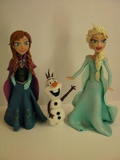 "Studio ""FONDANT DESIGN ANA"" - Figurice za torte (fondant figures): FROZEN (ANNA, ELSA, OLAF) - LEDENO KRALJEVSTVO"