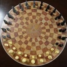 Three Man Chess Board