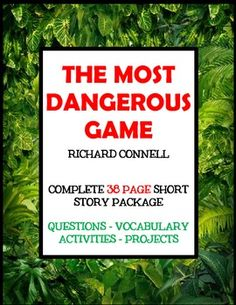 Most Dangerous Game - Short Story Foldable Flip Book Project ...