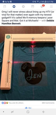 "Laser square for lining up images straight-new ""must have"" toy Plotter Silhouette Cameo, Silhouette Cameo Projects, Cricut Air, Cricut Vinyl, Cricut Help, Vinyl Crafts, Vinyl Projects, Cricut Tutorials, Cricut Ideas"