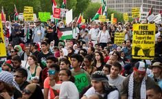 IMAGESLarge demonstrations against Israel's assault on Palestinians in Gaza were staged across the US on Saturday. The public outpouring of support for Palestinians in US streets suggests that Washington's pro-Israel policies are becoming increasingly unpo