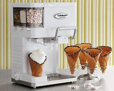 Máquina para hacer helados en casa.