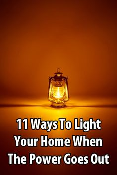 11 Ways To Light Your Home When The Power Goes Out - During a power outage, most people use flashlights and candles, but there are other options. Here are 11 ways to light your home when the power goes out.