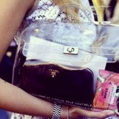 Hermes plastic kelly bag #theblondesalad #chiaraferragni - @chiaraferragni- #webstagram