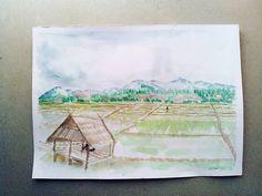 人人都向往无忧无虑的生活。#nature #green #flora #peace #paddy #field #lifegoal #draw…