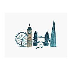 London postcard by NUNUCO® #nunucodesign