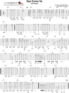 Oye Como Va: easy guitar tablature 1
