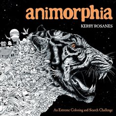Animorphia by Kerby Rosanes is another awesome adult coloring book that features images of intricately drawn animals. It's your job to fill them in! | This Adult Coloring Book Will Make You Grab The Nearest Crayons