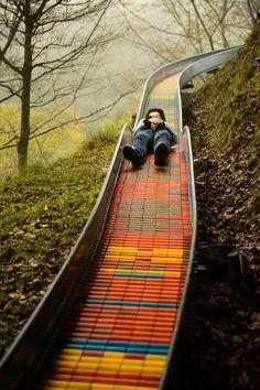 Mountain slide, Takatsuki, Osaka, Japan. Click image for full profile and visit the http://slowottawa.ca boards >> http://www.pinterest.com/slowottawa