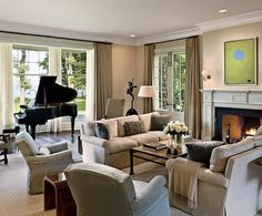 nice room, having a black grand piano helps. a little formal though...