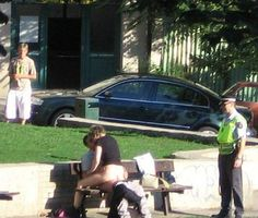 Afternoon Delight at the Bus Stop - Police Officer Arrests Couple for Public Sex ha ha excuse me sir and ma'am! Ha ha