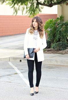 #white + #black look