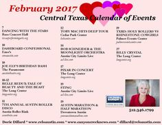 February 2017 Austin Texas Events ~ here's what's going on! What an exciting month of fun activities in store for Austin this month!