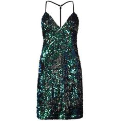 Boohoo Tall Faye Sequin Mini Dress ($26) ❤ liked on Polyvore featuring dresses, green sequin dress, short green dress, sequined dress, sequin embellished dress and short sequin dress
