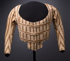 Dress Bodice Made in England or United States, late 18th century Cotton. This striped calico dress bodice is one of the few pieces of Martha Washington's clothing to survive largely intact. Eliza Parke Custis Law,...