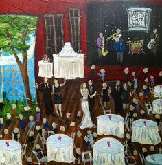 Live Event Painting | Wedding at Rosy's Jazz Hall  www.ColorMeNolaEventArtist.com  kristy@colormenola.com