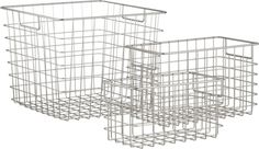 Wire Baskets - for organizing odd-shaped items in the pantry