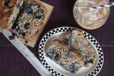 Vegan Blueberry Banana Bread #vegan