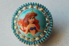 Little Mermaid Vintage Zipper ID Badge Reel by ZipperedHeart, $12.00