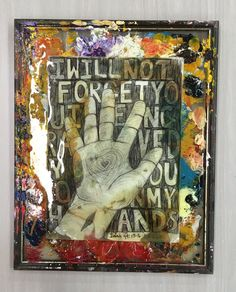 Bible verse painting hand