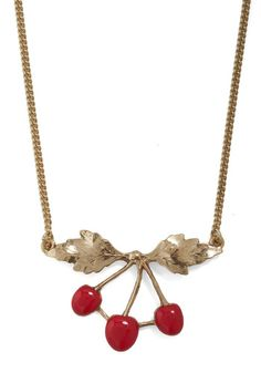 Cherry on Top Necklace, #ModCloth