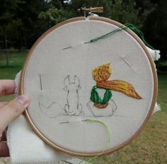 El Principito. Bordado en proceso. The Little Prince. Embroidery. WIP