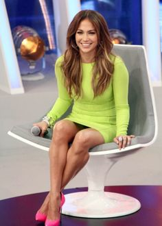 Jennifer Lopez Sports a Sexy Neon Green Mini as She Promotes 'Q'Viva' in Brazil!