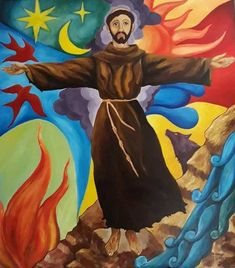 Francisco de Assis Catholic Saints, Patron Saints, St Francisco, Clare Of Assisi, St Clare's, Francis Of Assisi, Sacred Art, Line Art, Christianity
