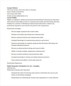 Product Marketing Specialist Sample Resume Sample Resume Template For Hr Executive  Hiring Manager Resume .