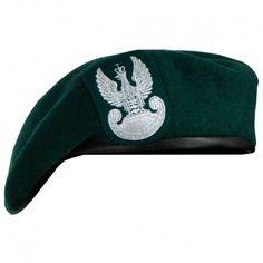 Polski Beret Wojskowy z Orłem Zielony #beret, #wojskowy, #polski, #orzeł, #zielony